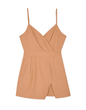 Thin Strap Crossover Cami Fitted Playsuit