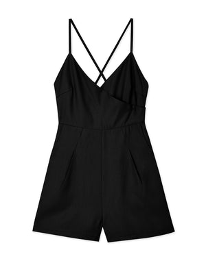 Low Cut Cross Back Playsuit