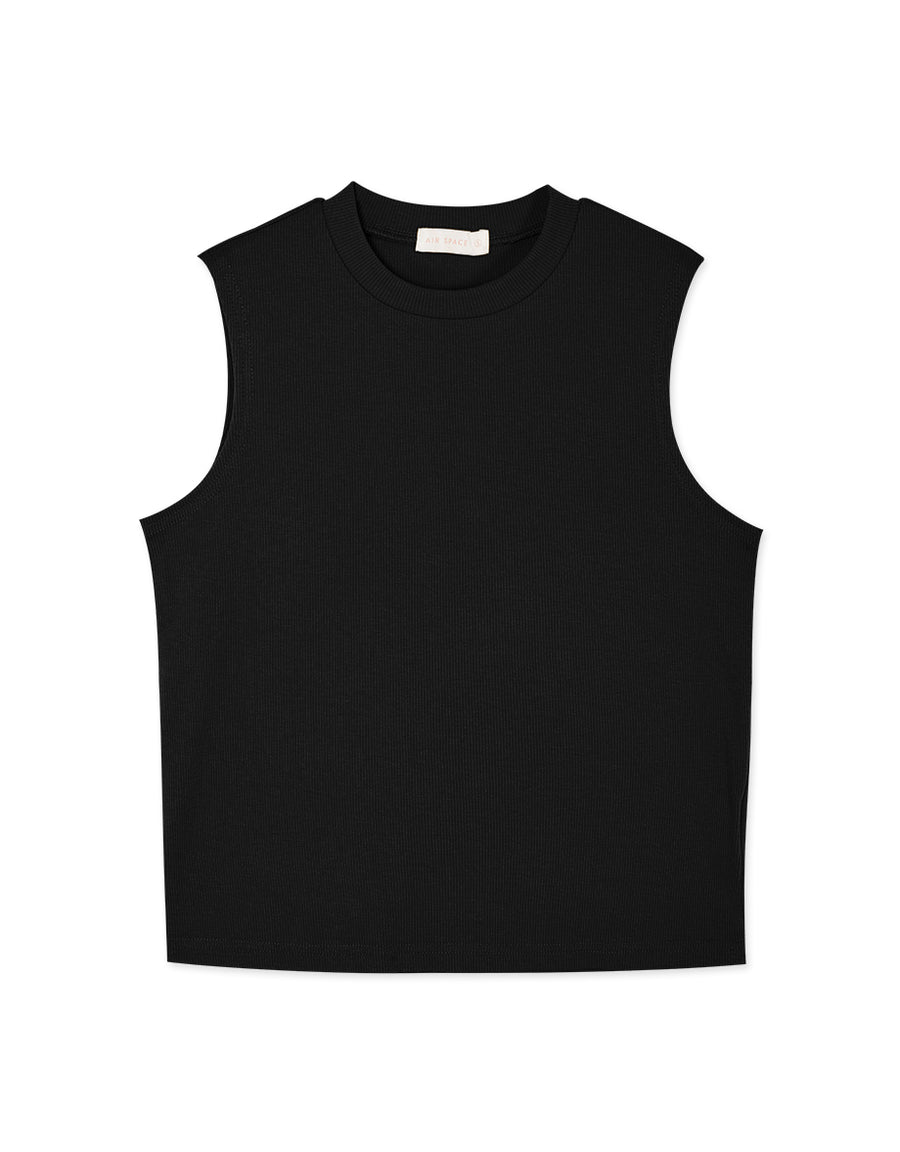 Crew Neck Sleeveless Knitted Tank Top