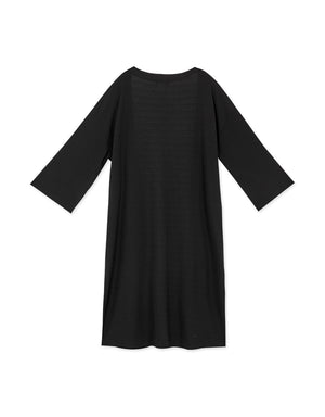 Casual 3/4 Sleeve Side Slit Long Duster