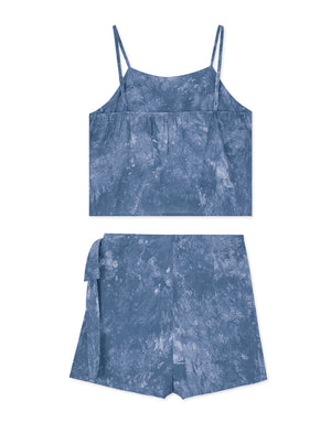 Thin Strap Dyed Cami Top & Shorts Set Wear