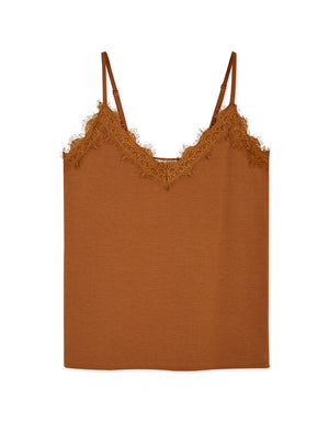 Deep V Lace Stretch Cami Top