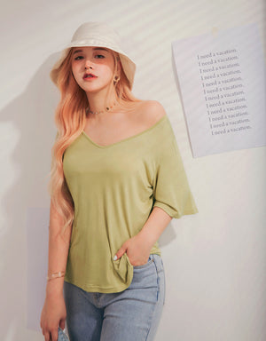 2Way Comfy Elastic Loose Top