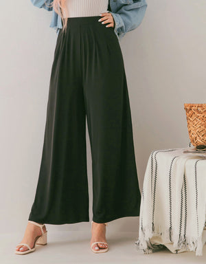 Cooling High Waisted Wide-Leg Pants