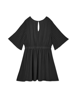V-Neck Striped Elastic Dress