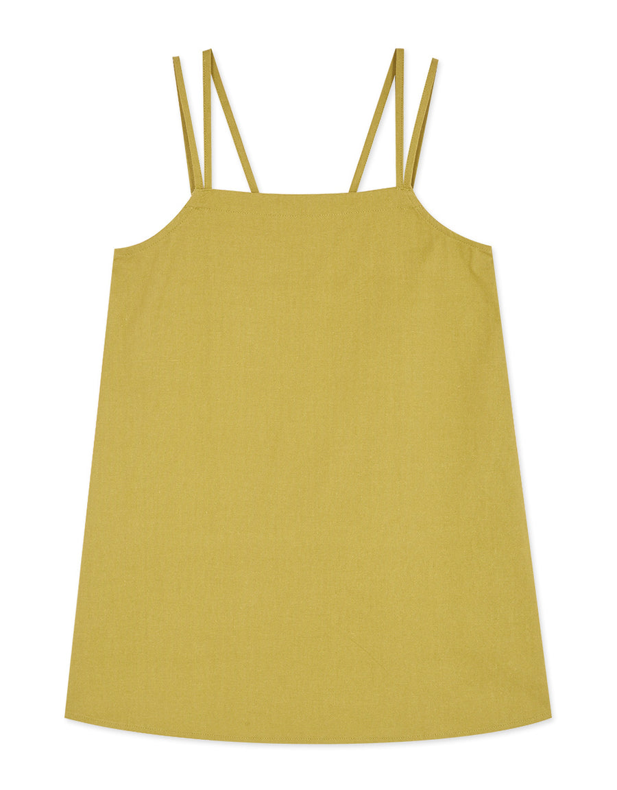 Minimalist Tube Double Strap Linen Cami Top
