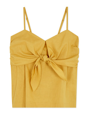 Thin Strap Front Bow Crop Cami Top