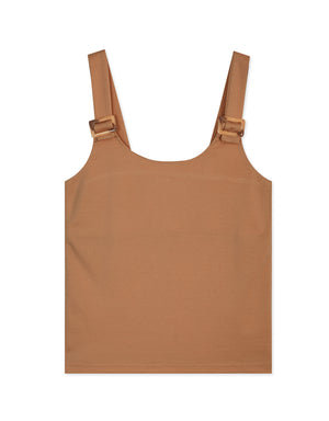 U-Neck Amber Ring Fitted Tank Top