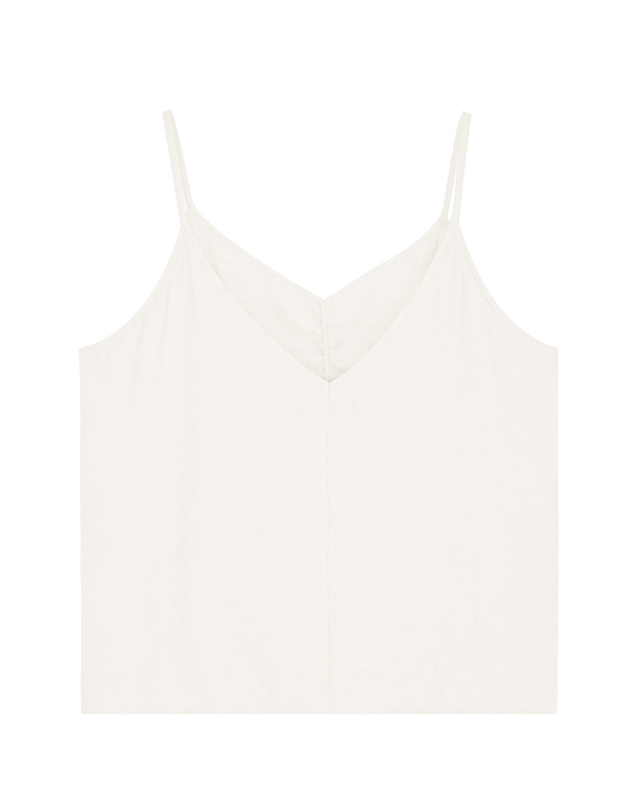 Thin Straps Scrunch Cami Top