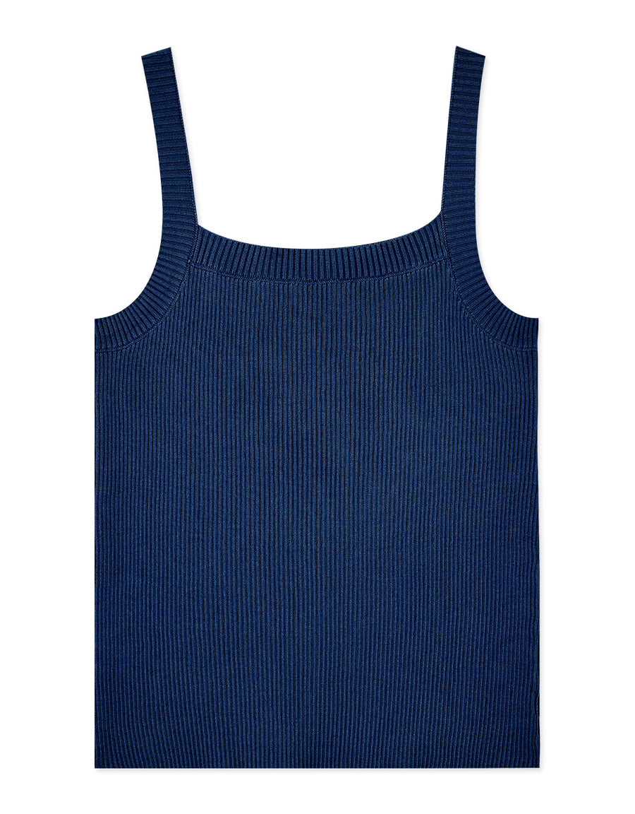 Fine Ribbed Fit Tank Top