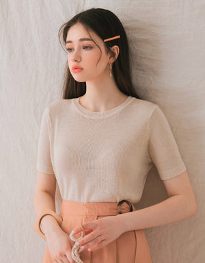 Transparent Thin Knitted Top