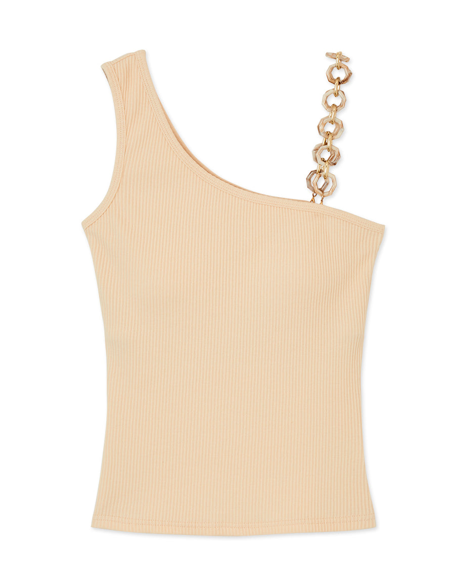 Stylish Amber Chain Fit Tank Top (With Padding)