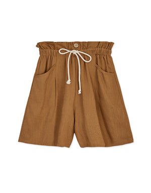 High Waisted Ribbon Paperbag Shorts