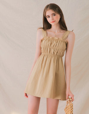 Sweetie Ruffle Thick Strap Dress