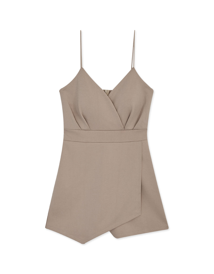 Thin Straps Deep V Playsuit (With Padding)