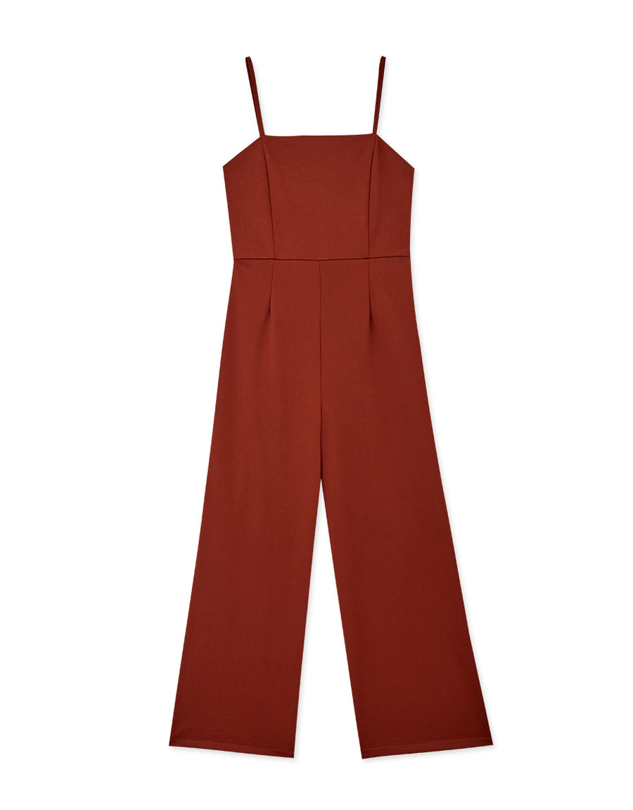 Minimalist Thin Straps Fitted Jumpsuit