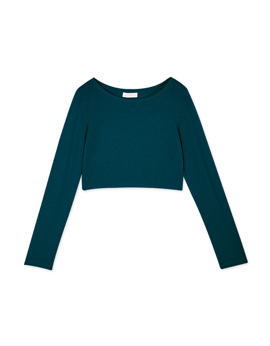 Plain Knitted Crop Top