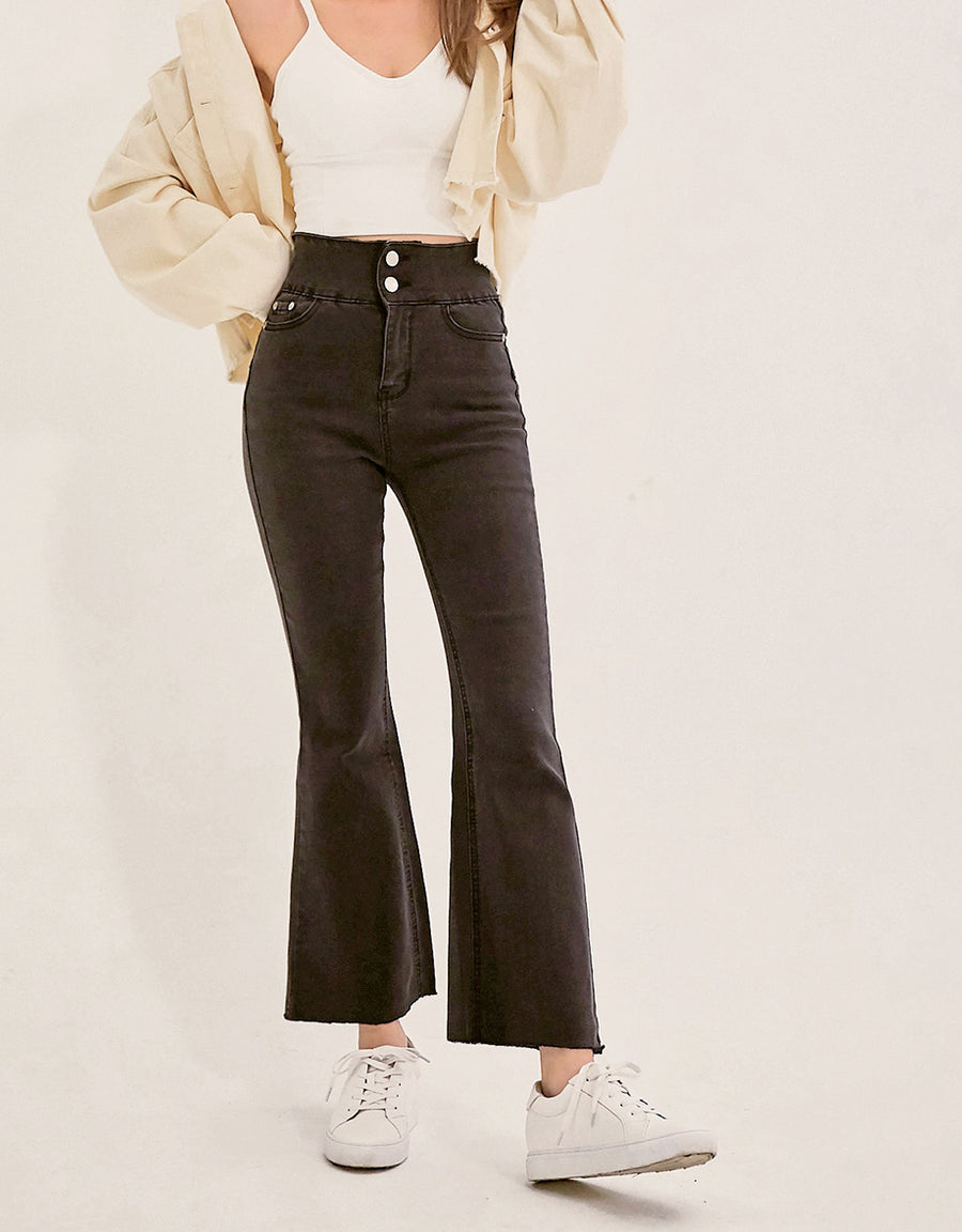 Petite Girl- No Filter Shape-Up Slimming Denim Trumpet Pants