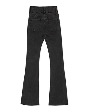 (S, M) Regular Height-No Filter Shape-Up Slimming Denim Trumpet Pants