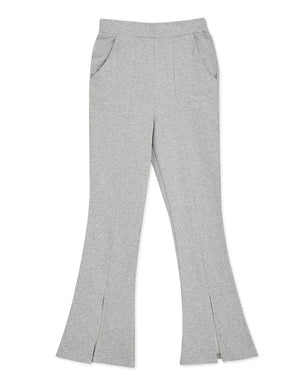 Cotton Front-Slit Trumpet Pants