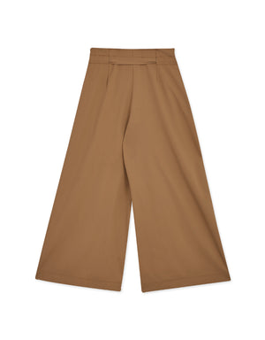 High Waisted Paperbag Ribbon Wide Pants