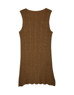 Curvy Knitted Sleeveless Mini Dress