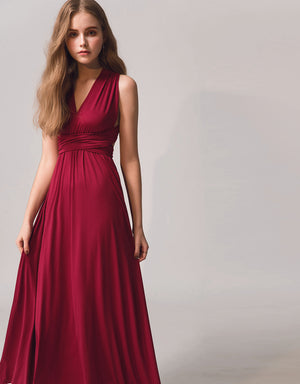 3Way Goddess Crossback Silky Smooth Maxi Dress