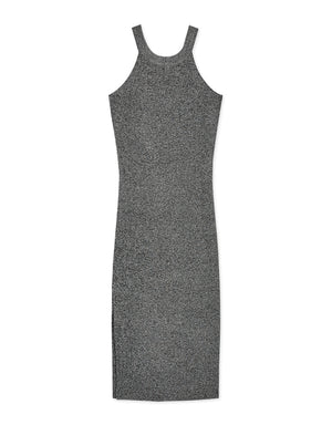 Halter Side-Slit Bodycon Knitted Dress
