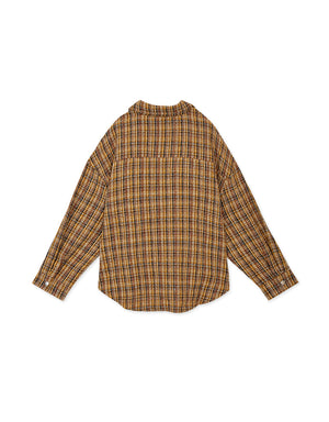 Plaid Oversized Blouse-Jacket