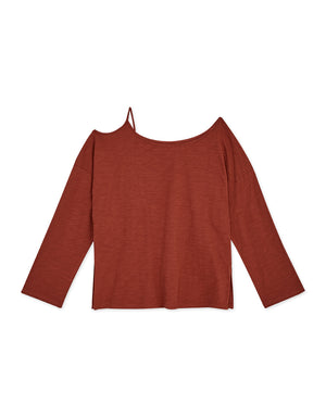 Single Strap Hollow Loose Top