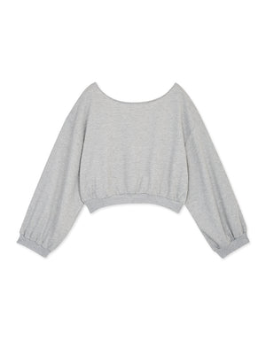 Casual Puff Sleeves Crop Sweater