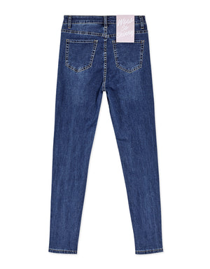 Elastic Slimming Denim Skinny Pants