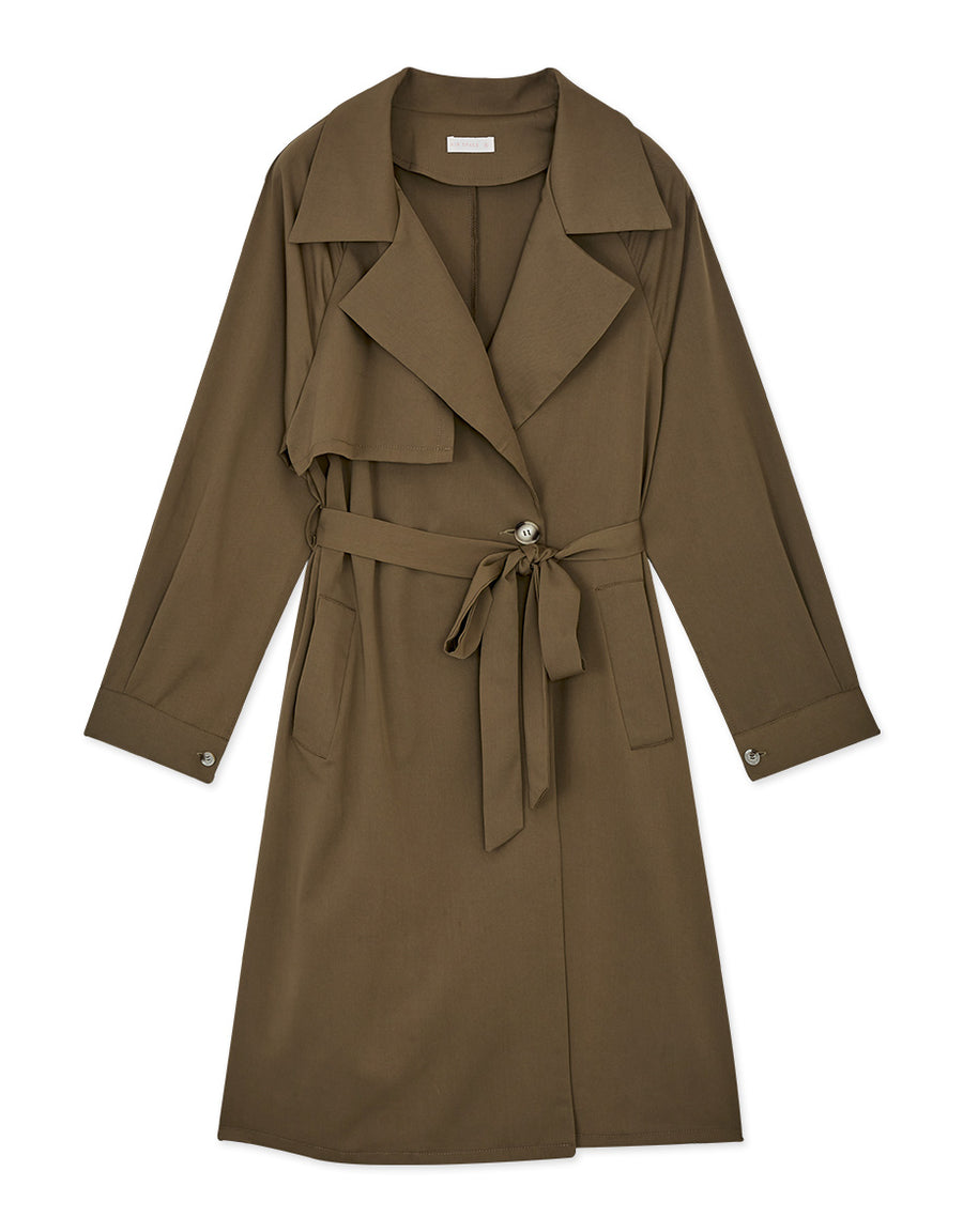 British Lapel Belted Trench Coat
