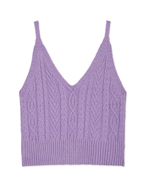 V-Neck Knitted Cami Top