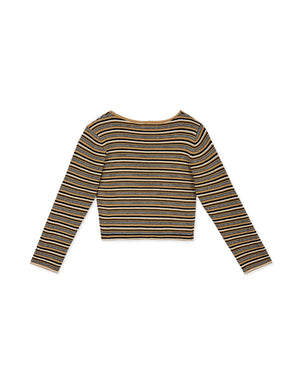 Little V Striped Ribbed Crop Top