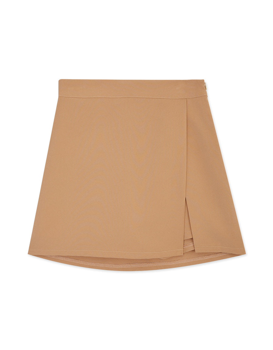 High-Waisted Slit A-Line Skort