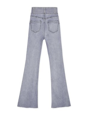 Tall Girl- No Filter Shape-Up Slimming Denim Trumpet Pants