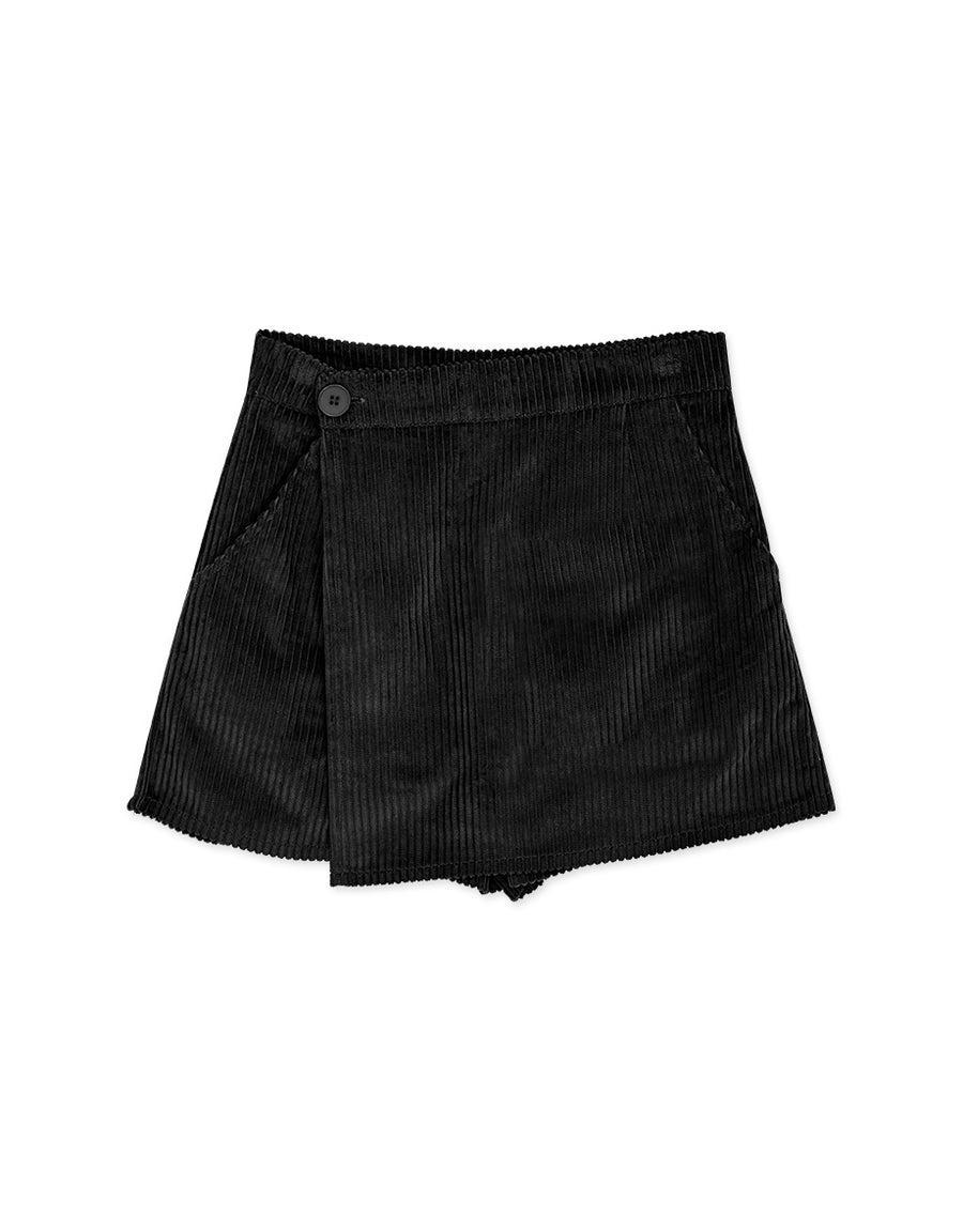 Textured Corduroy Pocket Skort