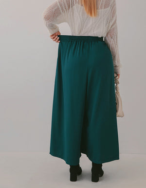Slimming Pleated Elastic Wide Pants