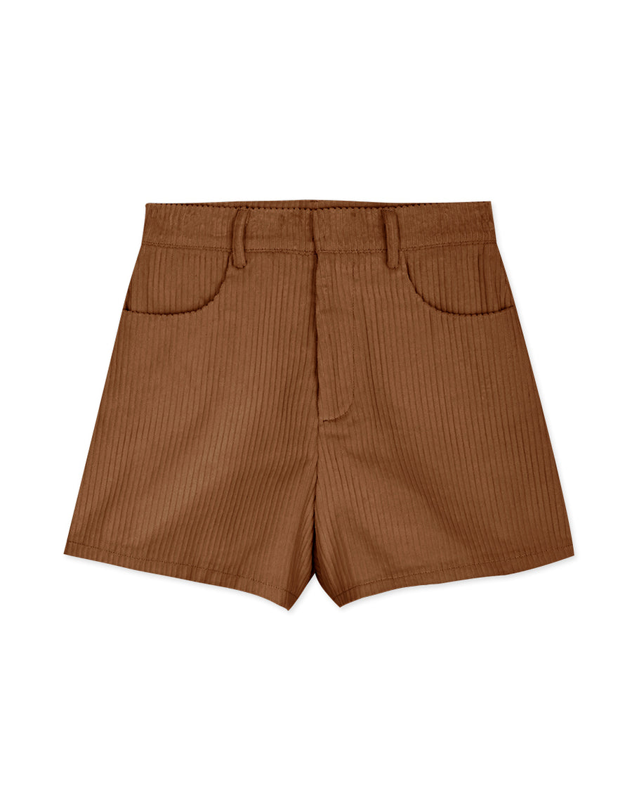 Textured Corduroy Slimming Shorts