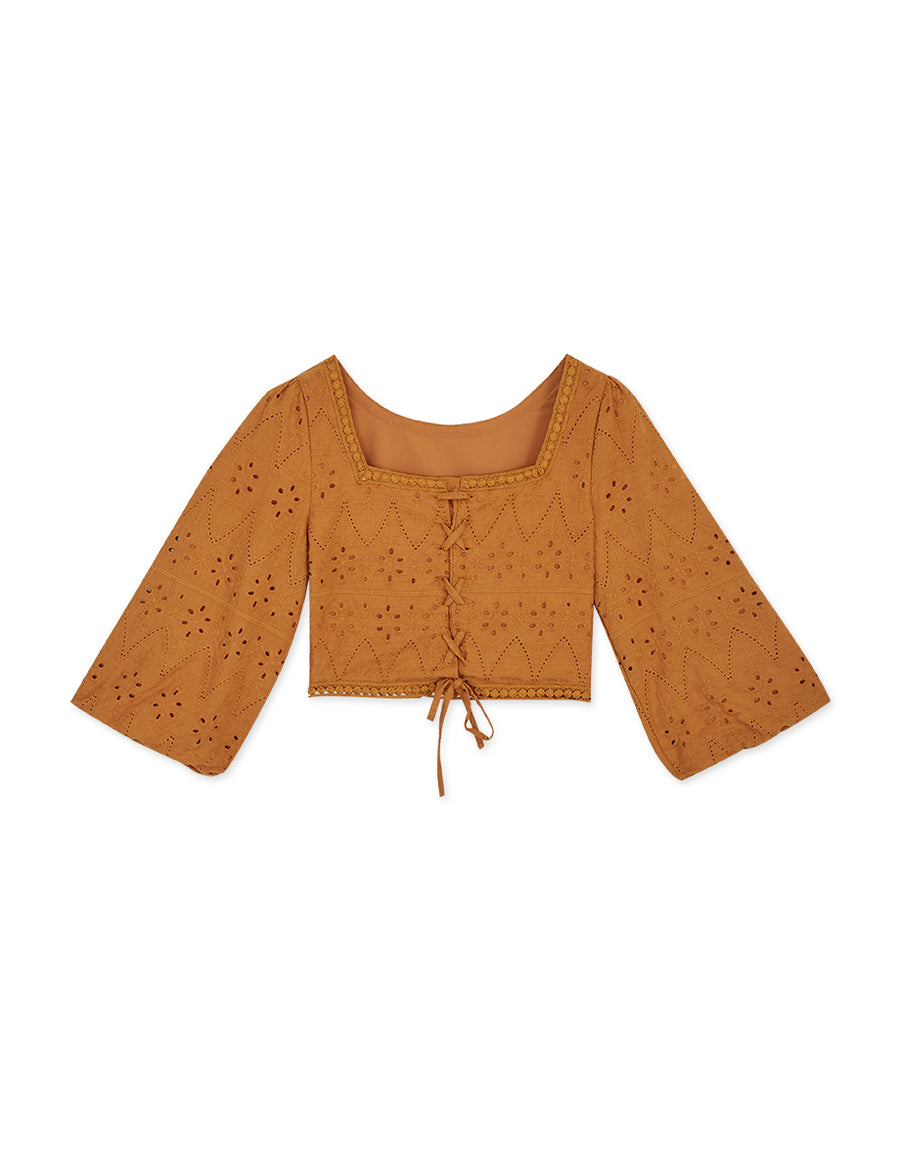 2Way Broderie Lace Crossover Top