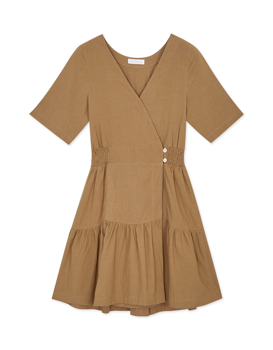 Minimalistic Ruffled Wrap Dress