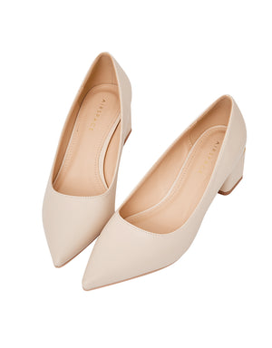 Minimalistic Block-Heeled Pumps