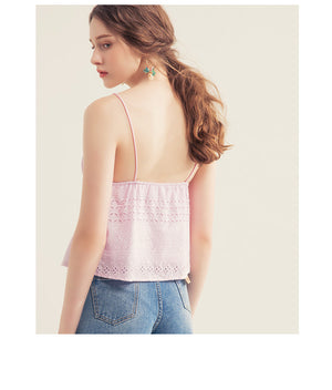 Broderie Wrap Front Camisole