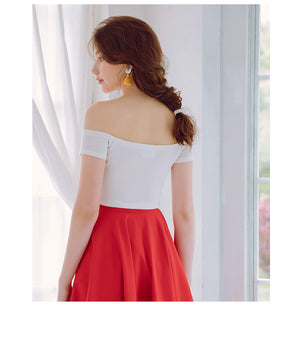 Off Shoulder Slim Cut Top