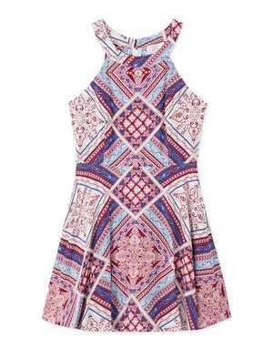 Boho Graphic Halter Dress