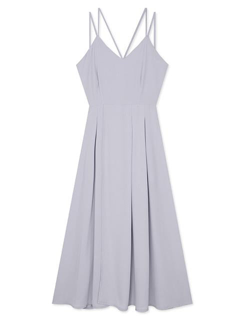 Spaghetti Strap Halter Split Long Dress