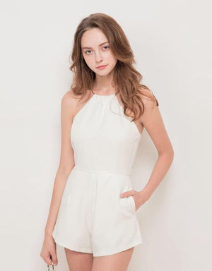 Metal Ring Halter Jumpsuit