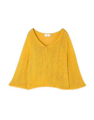 V-Neck 3/4 Sleeve Knit Top