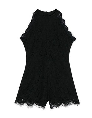 Eyelash Lace Halter Jumpsuit